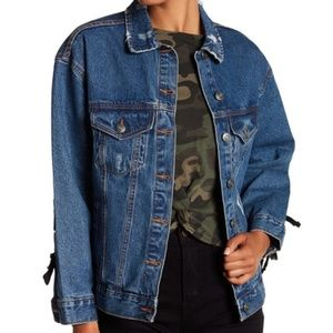 RD Style Denim Lace-Up Jacket